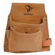 Borsa carpentiere Keron in crosta 2 tasche