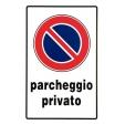 Segnaletica pvc 30x20 parcheggio privato