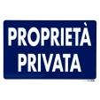 Segnaletica pvc 30x20 proprieta' privata