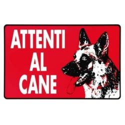 Segnaletica pvc 30x20 attenti al cane