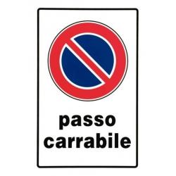 Segnaletica pvc 30x20 passo carrabile