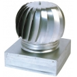 Aspiratore eolico zincato base quadrata/rettangolare