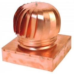 Aspiratore eolico rame base quadrata/rettangolare
