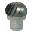 Aspiratore eolico zincato base tonda