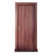 Porta per interni reversibile in laminatino Noce