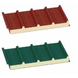 Lastra tetto coibentata grecata